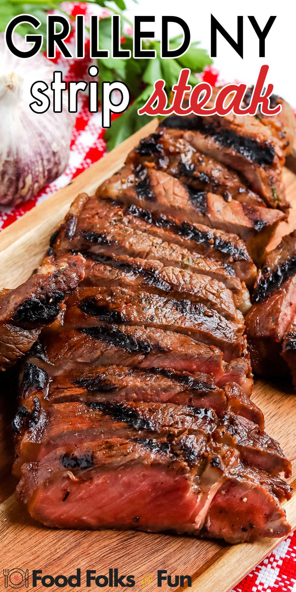I love grilling New York strip steak. See how buttery delicious and straightforward it is to make in this How To Grill Strip Steak tutorial. via @foodfolksandfun