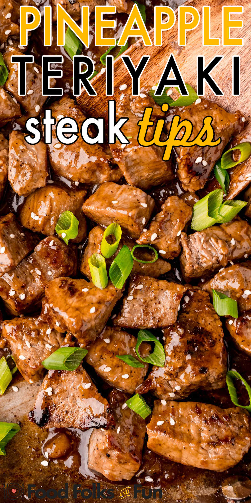 These Teriyaki Steak Tips are cooked to perfection and mixed with a thick and sticky pineapple teriyaki sauce! My family goes crazy for this 30-minute steak tips recipe! via @foodfolksandfun