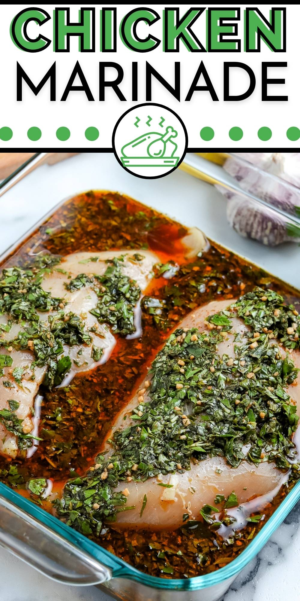 This Easy Chicken Marinade makes flavorful and juicy chicken every time. It's perfect for boneless skinless breasts, bone-in chicken breasts and pieces, chicken thighs, kabobs, and more. via @foodfolksandfun